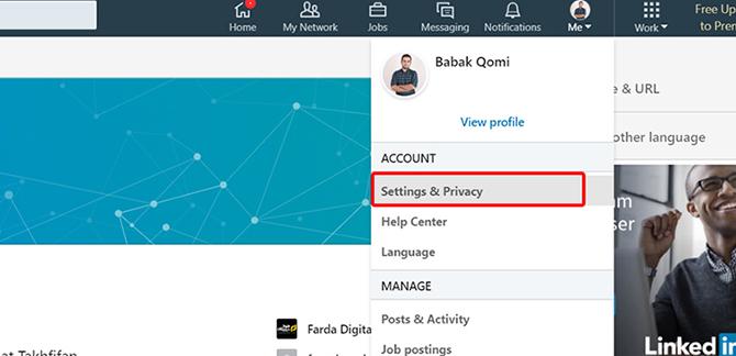 linkdin privacy 1 1 - معرفی انواع شبکه های اجتماعی