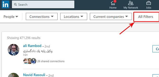 linkedin search 2 1 - معرفی انواع شبکه های اجتماعی